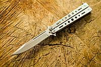 Складной нож-балисонг Grand Way 15084 W (Silver)