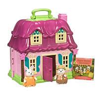 Lil Woodzeez Игровой набор Загородный дом 2 фигурки кроликов и домик