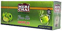 """Чай зелёный индийский """"MeriChai"""" """"Яблоко"""" 25пак 50г.(+ложка)"""