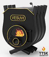Печь на дровах «VESUVI» с варочной поверхностью «01» со стеклом