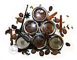 Набор пряностей для кофе в металлических спецовниках на подставке, 6 шт. по 15 грамм, фото 4