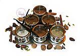 Набор пряностей для кофе в металлических спецовниках на подставке, 6 шт. по 15 грамм, фото 5