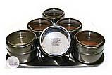 Набор пряностей для кофе в металлических спецовниках на подставке, 6 шт. по 15 грамм, фото 6