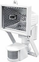 Прожектор галогенный e.halogen.move.150.white 150Вт, белый с датчиком на движение, фото 1