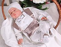 Комбинезон для новорожденного цвета шоколад Фрак размер 56 68