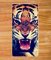 Оригинальный чехол панель накладка для Huawei Y330 с картинкой Тигр