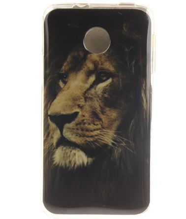 Оригинальный чехол панель накладка для Huawei Y330 с картинкой Лев