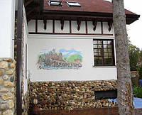 Нанесение рисунка на фасад здания