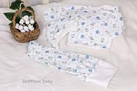 Ползунки, шпочка и распашонка для новорожденного на байке