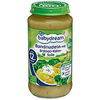 Babydream Bio Menü Bandnudeln mit Brokkoli-Rahm-Soße - Лапша в сливочном соусе с брокколи , с 12 месяца, 250 г