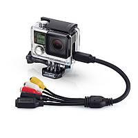 """Комбинированный кабель, входы: Композит / 3.5mm / mini USB, GoPro """"Combo Cable"""" для HERO3, HERO3+, HERO4 Silver, HERO4 Black (ANCBL-301)"""