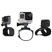 """Комплект креплений на запястье / кисть руки , предплечье или на ноги + поворотный механизм на 360° """"The Strap"""" для камеры GoPro любого поколения"""