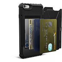 Композитная, защитная накладка UrbanArmor Gear с отсеком под пластиковые карты - Composite Card Case Black для iPhone 6 Plus / 6S Plus - матовая