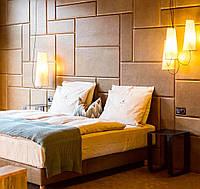 Мягкие стеновые панели, мягкие плиты в ткани, коже, кожезаменителе на заказ Одесса