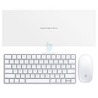 Оригинальный набор аксессуаров от персонального компьютера iMac (2015) Apple Magic Keyboard (Раскладка - US, гравировка - RU / UA) + Wireless Magic