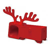 Пассивный усилитель громкости Ozaki O!music Zoo Deer для iPhone 5, 5S - красный (OM936DB)