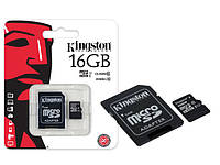 Карта памяти 16Gb microSDHC Kingston  + SD-adapter