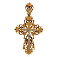 Прекрасный золотой крестик 585* пробы с вензелями