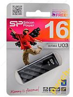 Флешка Silicon Power Ultima U03 Mystery Black 16GB