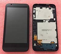 Дисплей для мобильного телефона HTC Desire 510, белый, с сенсорным экраном, с передней панелью