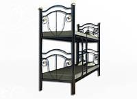 Кровать двухярусная Диана на деревянных ногах 2070х960х2080мм Металл-дизайн   90 металлическая