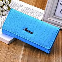 Модный бренд женский кожаный кошелек. Кожаный женский бумажник. Клатч. СКЖ-5