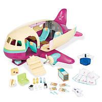 Lil Woodzeez Игровой набор Частный самолет 34 аксессуара и просторный самолет