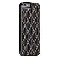 Стильная мужская накладка с алюминиевой вставкой Case-Mate Carbon Alloy Case для iPhone 6S / iPhone 6 - черная под карбон (CM031461)