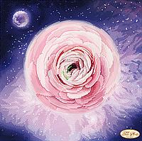 """Схема для вышивки бисером на атласе """"Ранункулюс"""" (круговая полная зашивка)"""