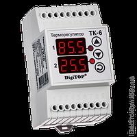 Терморегулятор двухканальный ТК-6, -55...+125 С, 220-230 V AC