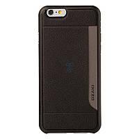 Ультратонкая накладка с кармашком под пластиковые карты Ozaki O!coat 0.3 Pocket для iPhone 6 - черная (OC559BK)