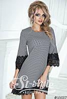 Стильное мини-платье с французским кружевом 1023