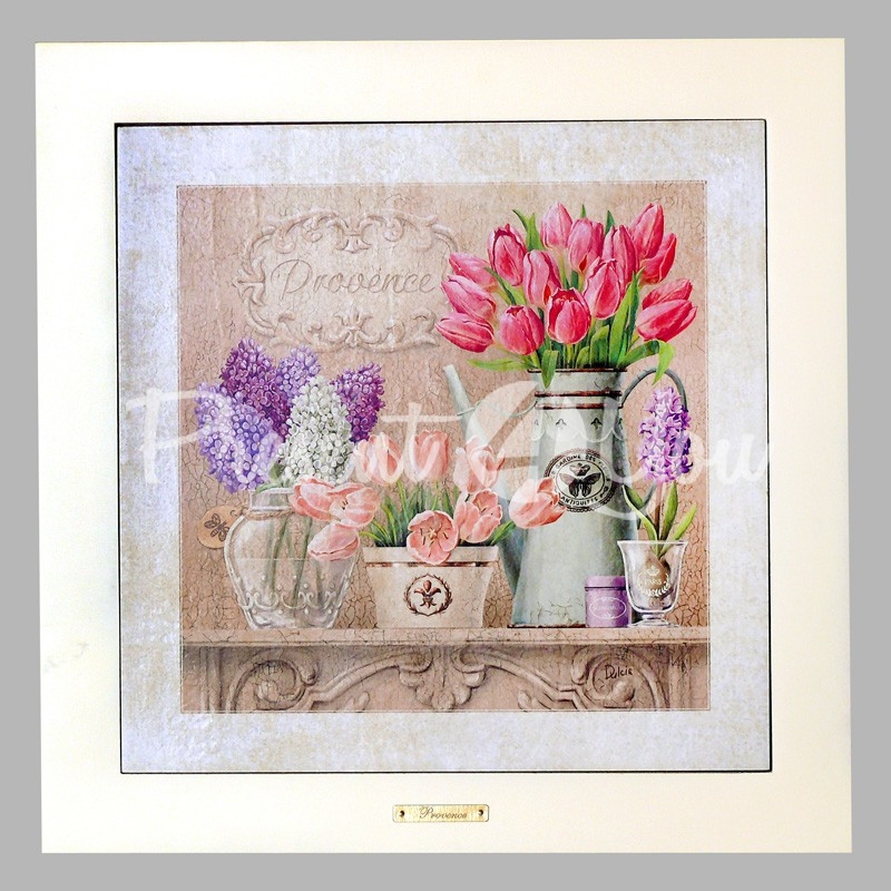 Панно настенное «Прованс . Тюльпаны», 33х33, 41х41 см.