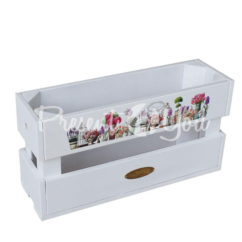 Ящик-цветник «Прованс», h-19 см., 11х37 см.