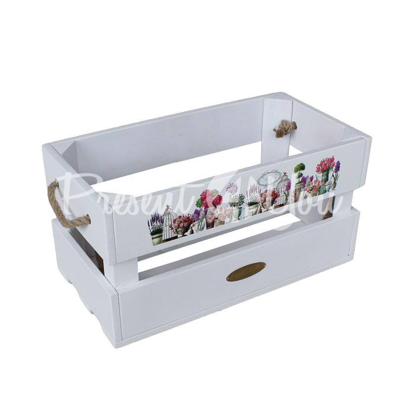 Ящик-цветник «Прованс», h-19 см., 19х37 см.