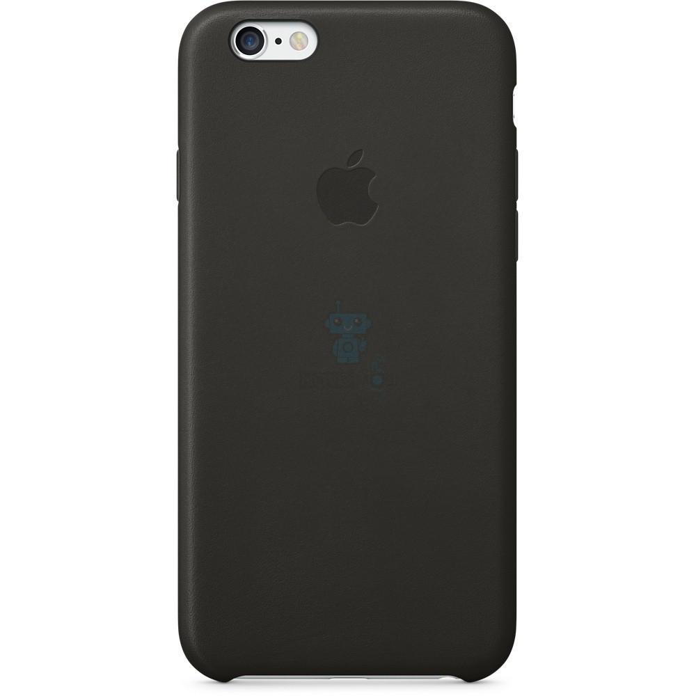 Кожаная накладка Apple Leather Case Black для iPhone 6 / 6S - черная (