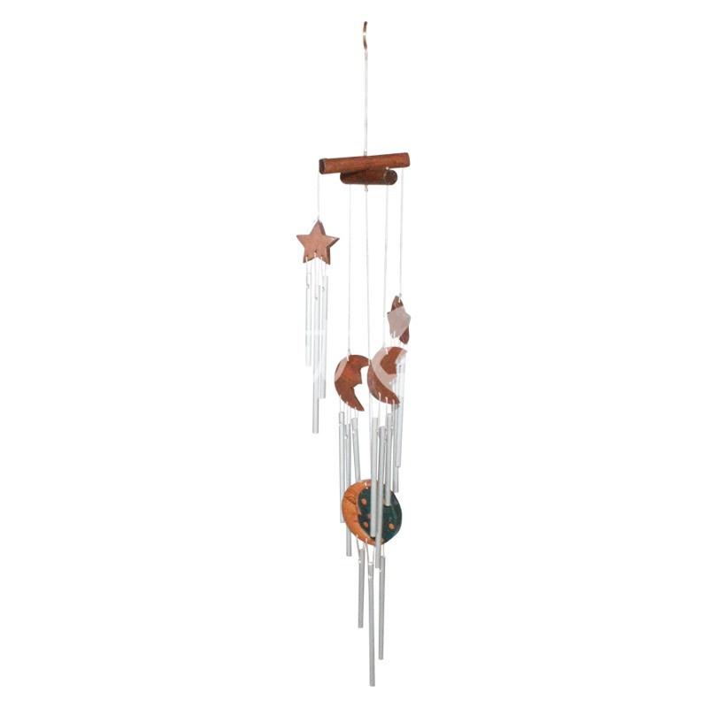 Колокольчик фен шуй музыка ветра «Звезды и луна», h-51 см.