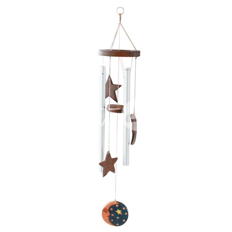Колокольчик фен шуй музыка ветра «Звезды и луна», h-63 см.