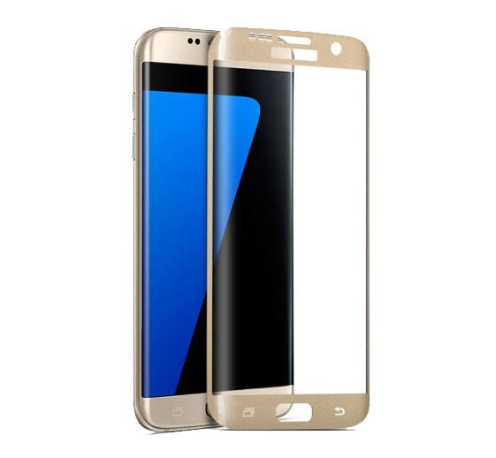 3D защитное стекло для Samsung Galaxy S6 Edge (G925F/G9250) - Gold