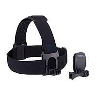 """Крепление на голову с дополнительной клипсой """"Head Strap + QuickClip"""" для камеры GoPro любого поколения (ACHOM-001)"""
