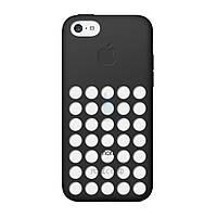 Оригинальная, полиуретановая накладка Apple Polyurethane Case Black для iPhone 5C - черная (MF040)
