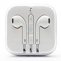 Оригинальные наушники Apple EarPods с пультом дистанционного управления и микрофоном (разъем 3.5 мм), в капсуле (MD827)