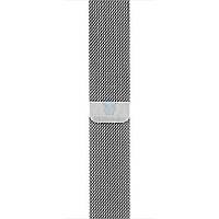 Оригинальный, миланский сетчатый браслет Apple Milanese Loop Silver для Apple Watch 42мм - серебряный (MJ5F2)