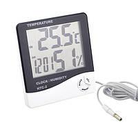 Термометр Гигрометр Влагометр  Часы HTC-2 (Метеостанция)