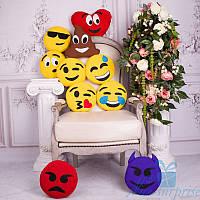 Подушки-смайлики Emoji набор из 10 штук, фото 1