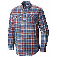 Мужская рубашка Columbia FLARE GUN™ FLANNEL III LONG SLEEVE SHIRT синяя в клетку AM8194 452