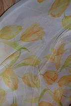 """Тюль печать """"Желтые тюльпаны"""", фото 3"""