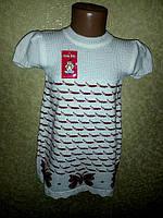 Туника вязанная для девочки Бабочка, фото 1