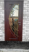 Двері вулична зі склопакетом та ковкою, фото 3