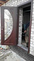 Двері вулична зі склопакетом та ковкою, фото 2